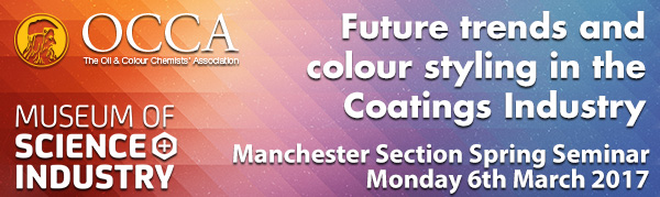 Colour, Coatings, Corrosion - Manchester OCCA Spring Seminar, March 14th 2016 @ MOSI